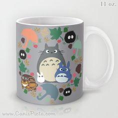 Totoro Kawaii mi vecino 11 15 oz taza primavera lavavajillas