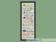 This beautiful sampler will make a unique gift or be the perfect addition to your childs room. The pattern comes as a PDF file that youll will be able to download immediately after purchase. In addition the PDF files are available in you Etsy account, under My Account and then Purchase after payment has been cleared. You get a pattern in colorblocks and symbols, a pattern in black and white symbols, and a list of the floss colors youll need. You also get an PDF file with cross stitch…