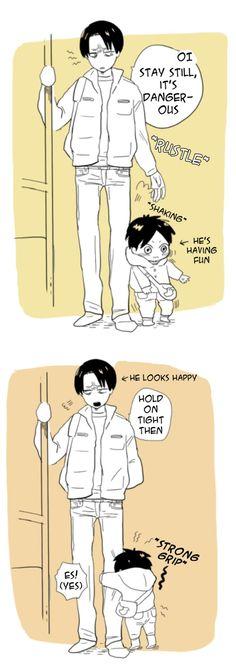 Levi and little Eren