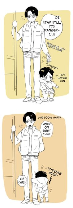 Levi and little Eren