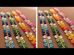 FAVONIR Colorful Assorted Beaded Necklace 12 Pack of Metallic Round Mardi Gras Costume Necklace Accessory 33 Inch 7 mm– for Events and Party Favor Novelty – Fine Jewelry & Collectibles Beading Tutorials, Beading Patterns, Bead Crafts, Jewelry Crafts, Beaded Earrings, Beaded Jewelry, Seed Bead Bracelets, Diy Schmuck, Flower Bracelet