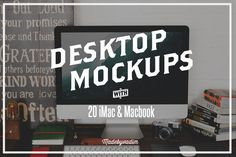 Check out 20 iMac & Macbook screen mockups by Madebyvadim on Creative Market