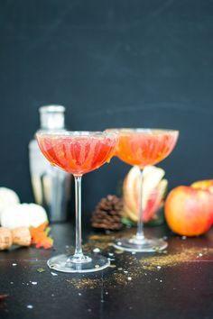 Witches' brew mimosas (or fall mimosas) are the perfect fall flavored bubbly cocktail for Halloween night through Thanksgiving :)