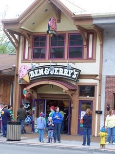 Ben & Jerry's - Gatlinburg See my Gatlinburg Vacation Rental at:  http://www.vrbo.com/558850 MyGatlinburgCabin.com