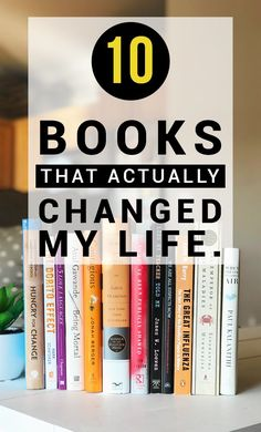 10 Books that Actually Changed my Life – Thyme Is Honey – Words Reading Lists, Book Lists, Reading Books, I Love Books, My Books, Good Fiction Books, Good Books To Read, Books To Read In Your 20s, Best Books Of All Time