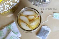 Find the nearest porch swing and enjoy warm summer breezes with a cold glass of Coconut Chia Iced Green Tea from The Plant Strong Vegan.   http://theplantstrongvegan.com/2014/08/05/lets-drink-coconut-chia-iced-green-tea/