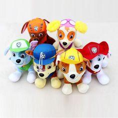 20 CM Canine Patrol Hond Speelgoed Russische Anime Pop Actiefiguren Auto Patrol Puppy Speelgoed Patrulla Canina Juguetes Geschenken voor kinderen