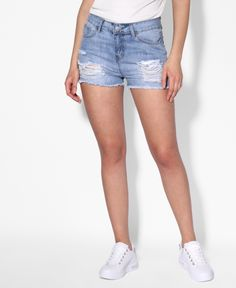 Pearl & Rip Denim Shorts  // Pearl & Rip Denim Shorts  Product Code: 2325  £16.99// #shorts #summerstyle #summer #spring #spring2018 #springshorts #denim #denimshorts #denimpearls #pearls