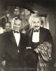 CHARLIE CHAPLIN and ALBERT EINSTEIN (photo from 1950s)