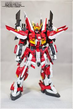 """MG 1/100 Gundam Mk. II """"Shuriken"""" Custom Build by snglemdia  Awesome work as always! I like the SRW looks of this Gundam Mk. II, and I like that I don't see the original body of the GunPla anymore. It also reminds me of Gundam Airmaster because of the color scheme."""