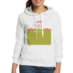 PhoRock Women's Sweatshirt Hoodies Cute Pullover Sweater Without Pocket Outerwear Christmas Message Printed WYBJRL004 - $29.99