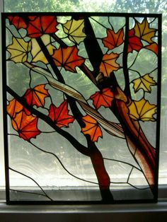 Image result for free stained glass landscape patterns