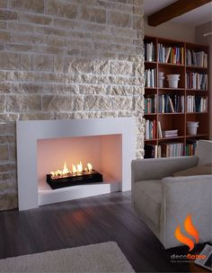 #modern architecture - fireplace - decoflame - ascot lux - bio-ethanol fireplace Like, pin, Share :-)