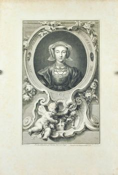 Anne Of Cleves By Jacobus Houbraken Published John Paul Knapton After Hans Holbein The