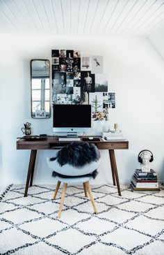 Scandinavian style home office for a creative workspace