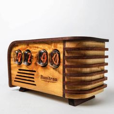 vintage version of Nuvitron nixie tube clock