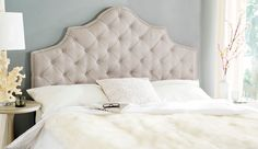 Arebelle Taupe Tufted Headboard