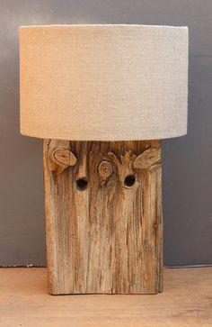 Driftwood LampRustic Dock wood LampDrift Wood by JuliasDriftwood