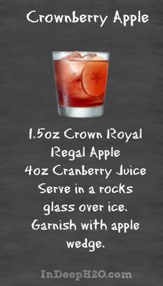 Crown Royal Regal Apple Crownberry Apple Cocktail Recipe