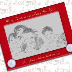 Love this Christmas card idea.