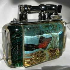 Enchanting Dunhill Aquarium lighter c.a 50's One at a type - Call Danilo 0039 335 6815268