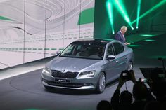 This is the new Skoda Superb, the latest generation of the Czech manufacturer's range-topper and a car that's designed to rival everything from the Ford Mondeo to the BMW 3 Series. It's been revealed at the 2015 Geneva motor show and goes on sale later this year.