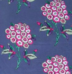Inez from Tulu Textiles #fabric #floral #blue #pink