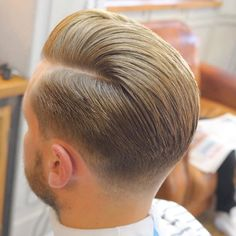 Taper Fade with Long Comb Over
