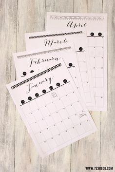 Calendarios planificadores 2015 // 2015 Printable Tribal Themed Calendar