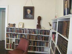 La biblioteca de William Faulkner en Rowan Oak.