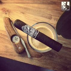 #smokeoftheday with my coffee : #Gurkha ghost! I think I get why it's called a ghost. The amount of smoke that expel from this cigar is impressive!