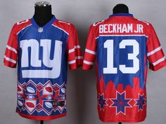 Men s NFL New York Giants  13 Odell Beckham JR Noble Fashion Elite Jersey  Jersey Outfit c8875792a