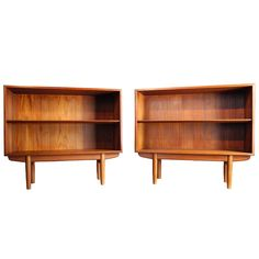 Danish Modern Bookcases, Nightstands in Teak by Borge Mogensen  1