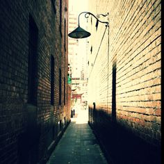 Lane way leading to China Town, Melbourne.
