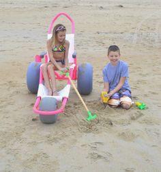 The world's best custom offroad beach wheelchairs available exclusively at: MySandRider.com #SandRider #Beachwheelchair