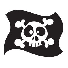 Stickers - KOMOA Design - Stickers DECORS DE PIRATE Drapeau 1