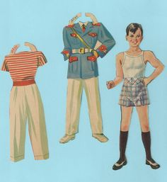 Vintage Paper Doll Outfits Alec   eBay