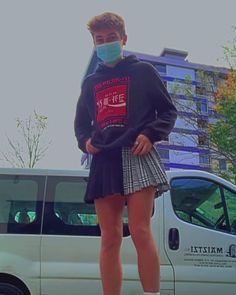 Guys In Skirts, Boys Wearing Skirts, Men Dress Up, Feminized Boys, Gay Outfit, Young Cute Boys, Androgynous Fashion, Unisex Fashion, Types Of Fashion Styles