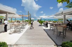 View to the beach from the bar and grill. photo for Gansevoort - Providenciales, Caribbean Turks And Caicos Honeymoon, Turks And Caicos Villas, Luxury Villa Rentals, Resort Villa, Local Attractions, Beach Bars, Beach Trip, Luxury Travel, Best Hotels