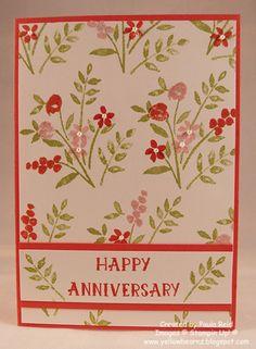 Pretty card. Yellowbear Stampin: Happy Anniversary (Mar'16)