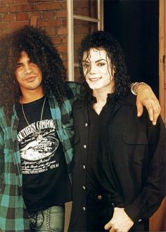 Michael with Slash. #MJ and #Slash