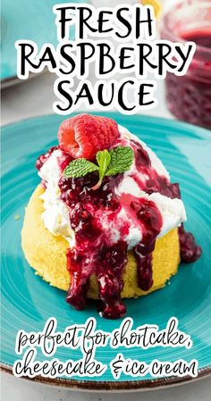 The best recipe for easy raspberry sauce which can be used as a dessert topping or as a filling in cupcakes, crepes, or other baked goods. Use only 6 ingredients and 20 minutes to make this homemade fruit coulis. This decadent vegan sauce can be made with fresh or frozen berries. Use it to top cakes or cupcakes, pancakes, cheesecake, ice cream, shortcakes, and so much more! Healthy Dishes, Healthy Desserts, Healthy Recipes, Allergy Free Recipes, Fun Easy Recipes, Cheesecake Ice Cream, Cream Cake, Raspberry Sauce, Vegan Sauces