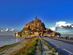 Mont Saint-Michel Castle  モン・サン=ミシェル フランス  別名「西洋の驚異」