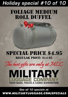 Great bag sale! Military Luggage Company