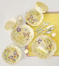 Bring a classic garden vibe to the table with Botanica Dinnerware by Pier 1