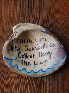 Read the full title Friends are Like Seashells You Collect Along the Way, Seashell Art, Friendship Gift, Ring Dish, Gifts Under 30, Gift Under 20