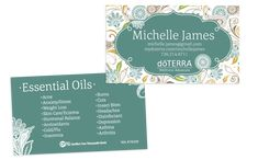 FourPhoto Classic DoTERRA Business Card For Wellness Advocates - Doterra business card template