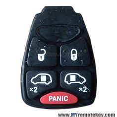 Rubber Button Pad For Chrysler Dodge Jeep Remote Key 4 Button With Panic Chrysler Dodge Jeep Dodge Chrysler