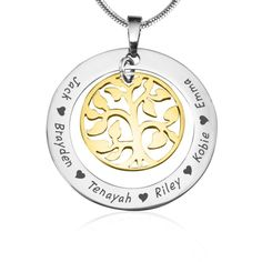 Elegant and endearing, the My Family Tree necklace makes the perfect gift for mothers,grandmothers, aunts, best friends, or even as a treat to yourself.All our pieces are handcrafted and hand cut from scratch. We use our own materials Sterling Silver which does not tarnish, is non allergic and has a unique white gold look finish; and 18ct gold which is a top gold alternative out there You can read more about our process here All pieces are also a solid, strong and thick 1.2mm.