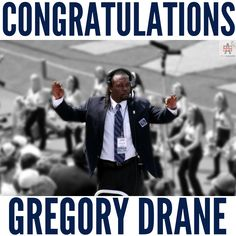 CONGRATS goes out to Penn State's first Black band director Gregory A Drane!!!    My friend and frat brother, I'm truly proud of you!  You have been grinding for years and it is great to see hard work paying off!! People will no longer leave to get something to eat at halftime thanks to you!!  Man!  Well deserved!!